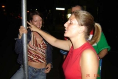 Hilary_and_Roison_practising_a_bit_of_Pole_dancing